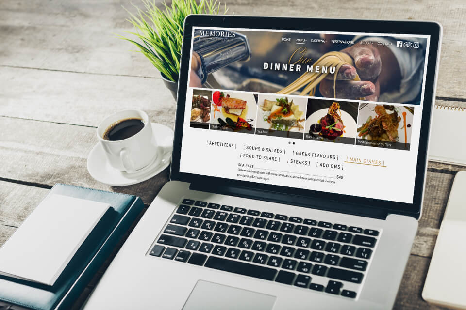Memories Dining & Bar is a a fine dining restaurant in Regina SK, and our digital marketing client.