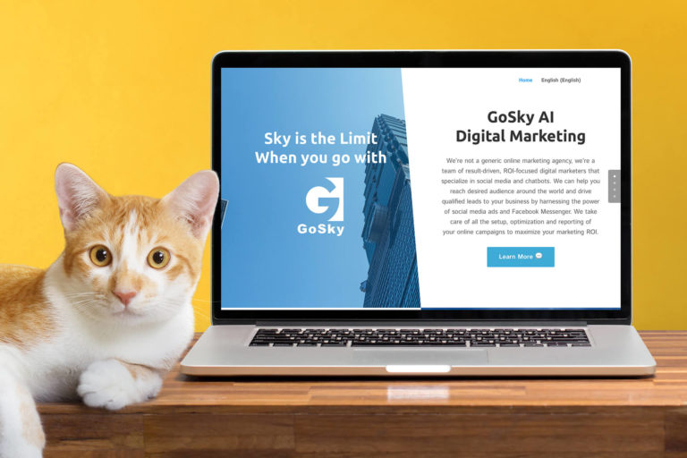 One-page, bilingual website designed for a digital marketing firm in Halifax.