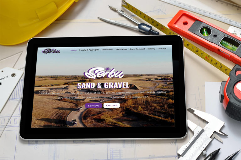 This is a site we built for Serbu Sand & Gravel in Regina, SK.