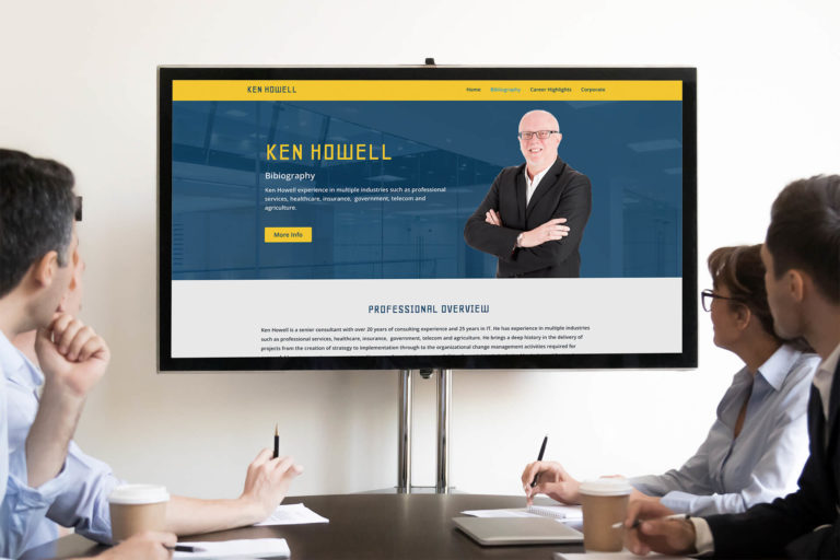 This is a personal, professional website we developed for the COO of Paradigm Consulting firm.